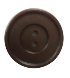 Knoop kunststof bruin 20mm