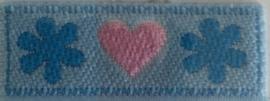 Applicatie hartjes blauw