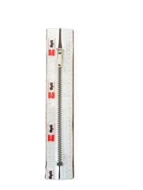 Optilon M60  broeken/rokken  rits wit  20 cm