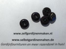 23 kunststof knopen donker bruin 14mm