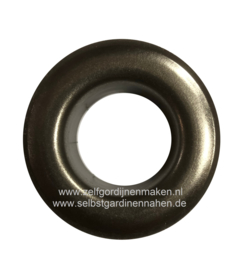 Zeilring rond 25 mm Antiek Nikkel