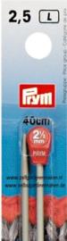 Prym Breinaalden 40 cm, 2,5 mm