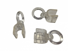 balein clip met ring 6mm Transparant