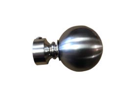 Eindknop Bol 29 mm edelstaal
