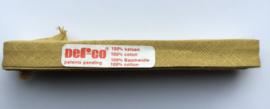 Biaisband oker 12 mm katoen