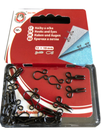 Haken en ogen 12+10 mm - 10 sets