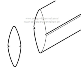 Onderlat PVC 27 x 9 mm tot 98,5 cm