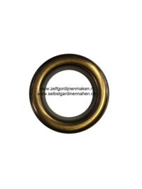 Zeilring 40mm oud goud brush