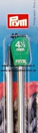 Jackenstricknadeln, Aluminium, 40cm, 4,50mm, silberfarbig