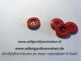 50 kunststof knopen rood 20mm