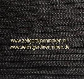 Vierkant koord 5 x 5 mm zwart