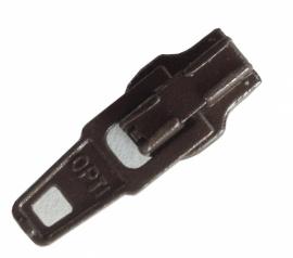 Zipper donkerbruin  p/st