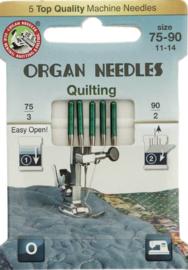 ORGAN NEEDLES ECO-PACK QUILTING 5 NAALDEN 75-90