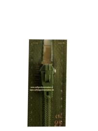 Optilon S40 rits niet deelbaar donker groen