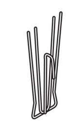 Gardinenhaken 4 Beine 3 cm