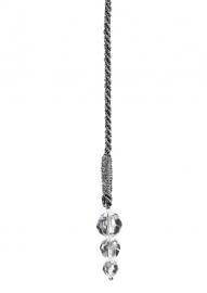 Deco Kordel schwarz/silber 40cm