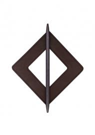 Embrassering vierkant leder Donkerbruin 2881-200
