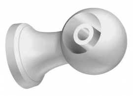 Kompionsteun 13 mm wit kunsstof