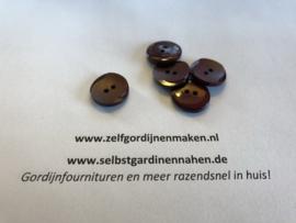 50 kunststof knopen rood/bruin 17mm