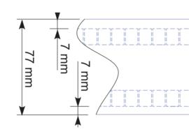 WAVE band 77 mm transparant met gelijke hoofdjes- 50 m