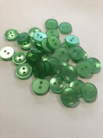 35 knopen Licht Groen, 11,5 mm