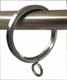 Roede Ring RVS met oogje (groot) 42/50