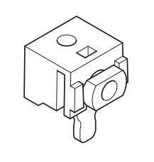 Universalträger für Raffrollo mit hebel, Wandabstand 2 cm