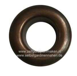 Zeilring rond 25 mm Oud koper