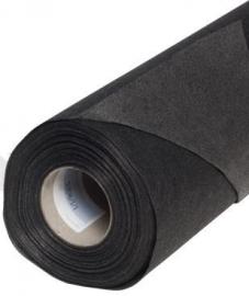 Vlieseline Aufbügelbar Schwarz dünn - 25 cm x 90 cm