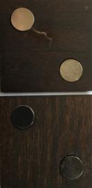 Design Paneelclip donkerbruin
