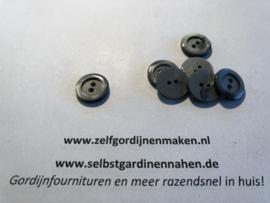 13  kunststof knopen grijs  15mm