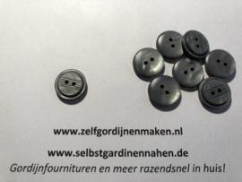 47 kunststof knopen grijs 15mm