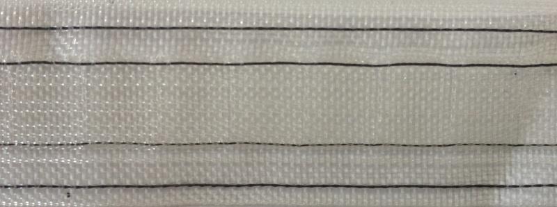 Duplo plooibandband transparant/ zwarte draad 2,5 cm