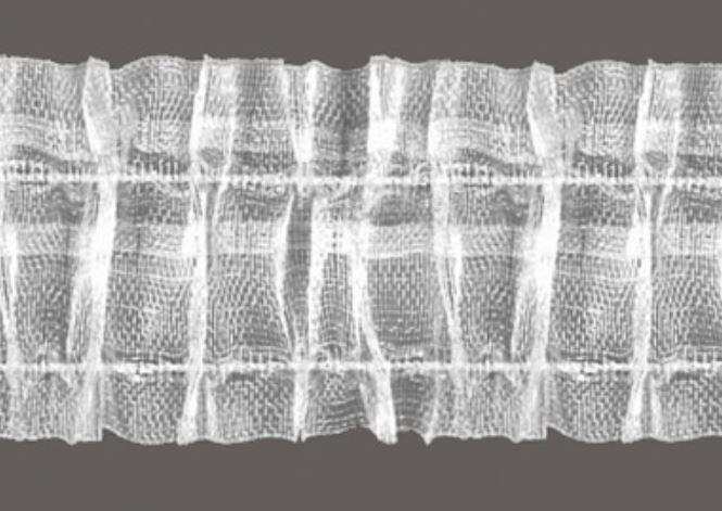 Plooi / duplo band transparant 5cm