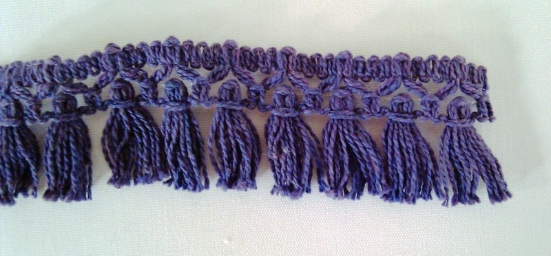 kwastjesband blauw
