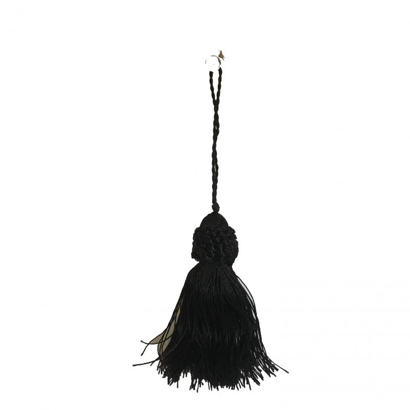 Schlüsselquaste schwarz 14cm