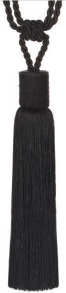 Embrasse kwast 70 cm zwart