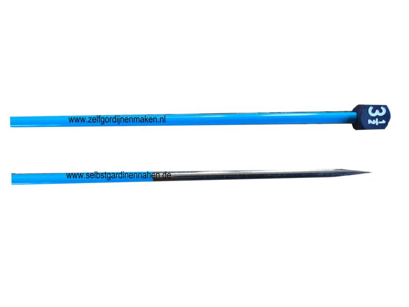 Jonco Jackenstricknadeln, Aluminium Blau, 40cm, 3,5mm
