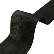 Gordijnband zwart 9,8 cm per meter