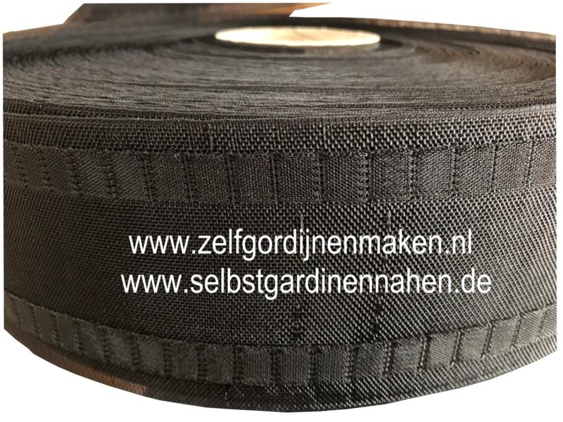 Wave band  77 mm Zwart - rol 50 meter