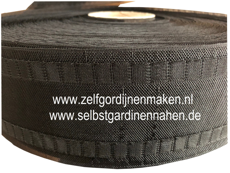 Wave band  77 mm Zwart