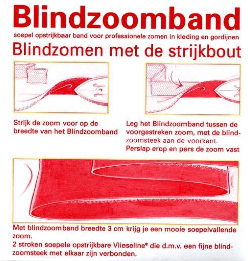 Blindzoomband zwart 50 meter