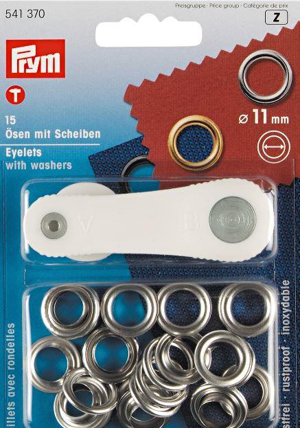 Zeil ogen set  11 mm - nikkel