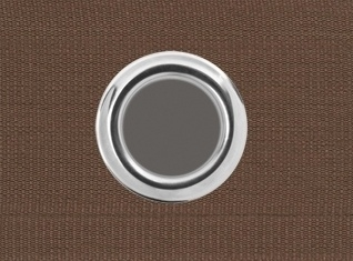 Ringenband 6cm Chocolade bruin