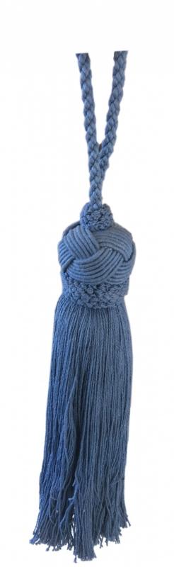 Deco kwast Blauw 37 cm