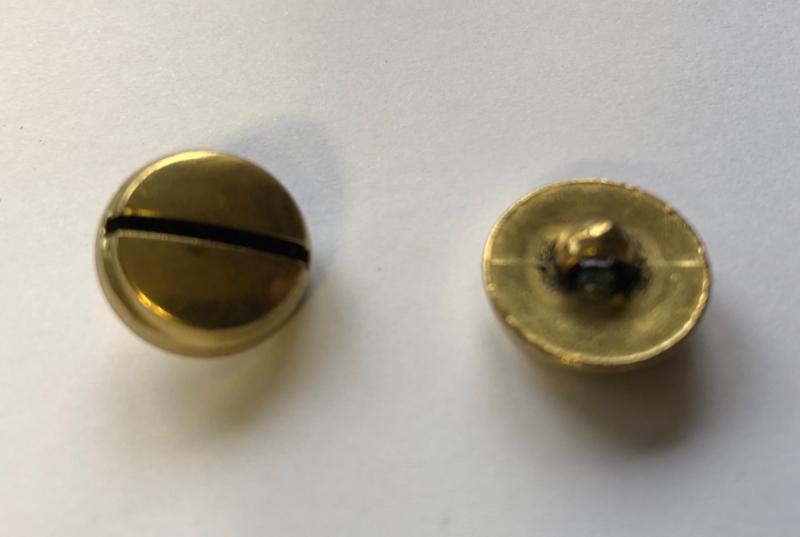 Knoop Messing 15 mm