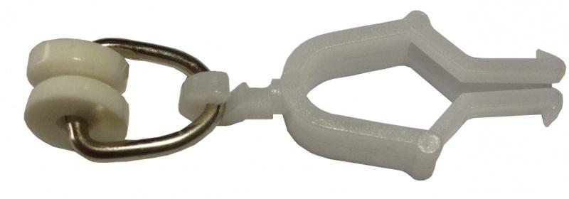 Gordijn runner T-rol ring metaal