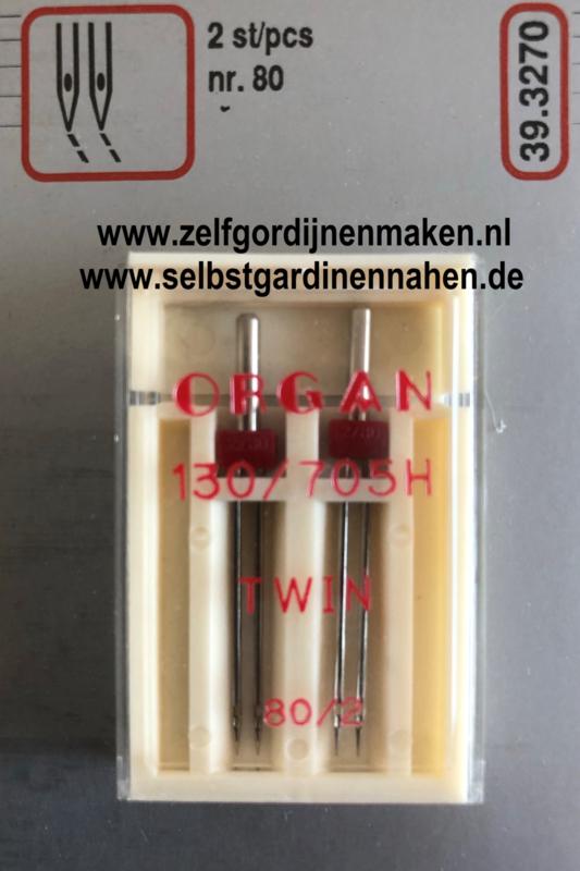 Organ dubbele naald 130/705H  80/2mm