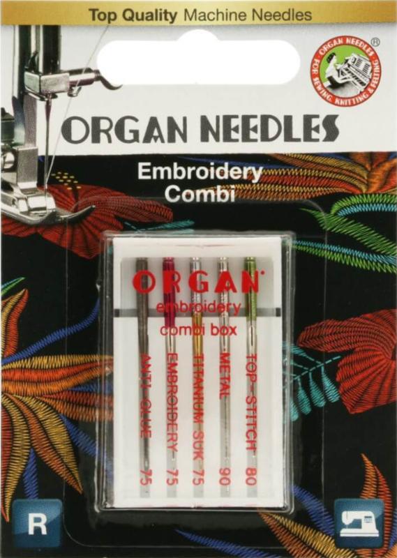 ORGAN NEEDLES STICKEN COMBI BOX 5 NADELN