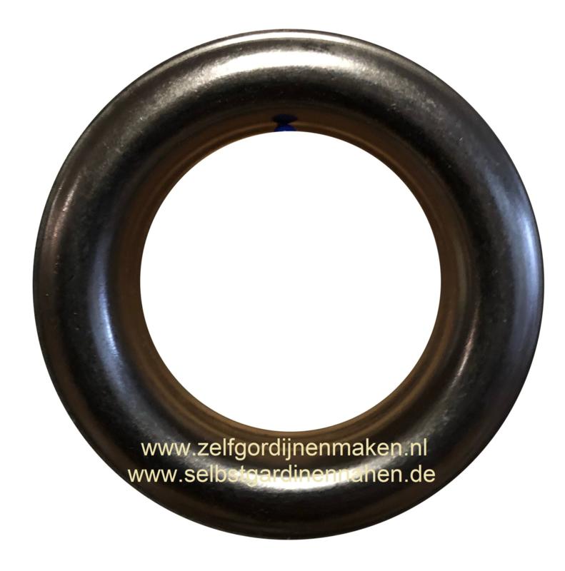 Zeilring rond 25 mm Gun Metal (Antiek Zwart)